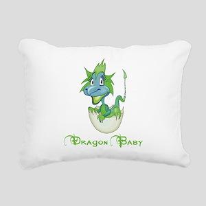 Dragon Baby Rectangular Canvas Pillow