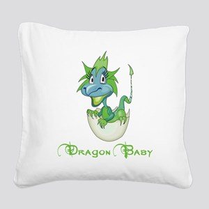 Dragon Baby Square Canvas Pillow