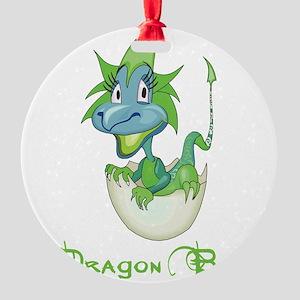 Dragon Baby Round Ornament