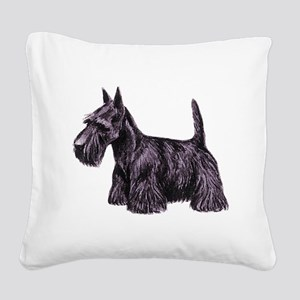 dover scottie Square Canvas Pillow