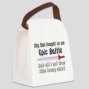 Epic Battle Canvas Lunch Bag