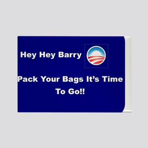 It's Time To Go Barry O Rectangle Magnet