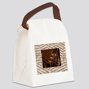 Musical Horn Canvas Lunch Bag