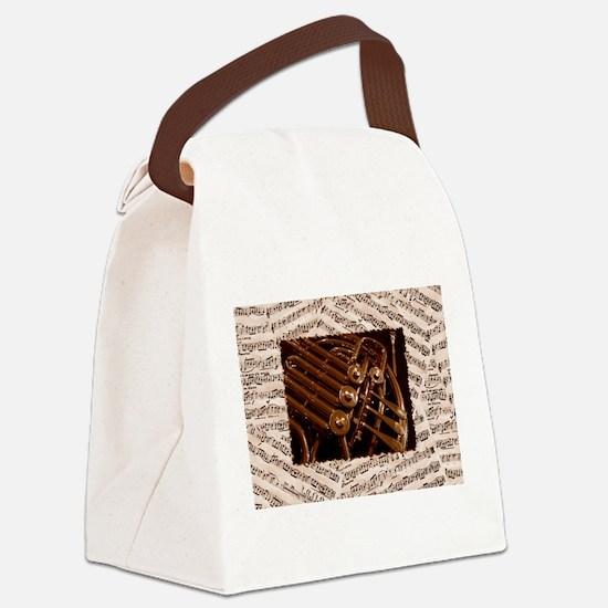 Musical Horn Canvas Lunch Bag