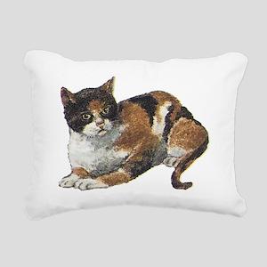 Calico cat Rectangular Canvas Pillow