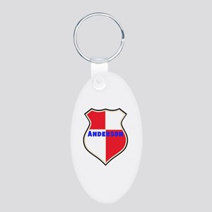Personalized shield Aluminum Oval Keychain