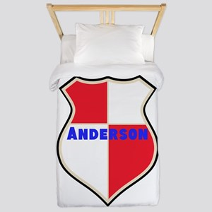 Personalized shield Twin Duvet