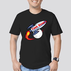 Personalized rocket Men's Fitted T-Shirt (dark)