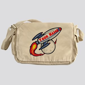 Personalized rocket Messenger Bag