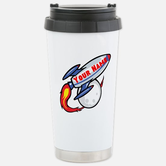 Personalized rocket Stainless Steel Travel Mug