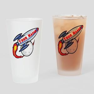 Personalized rocket Drinking Glass