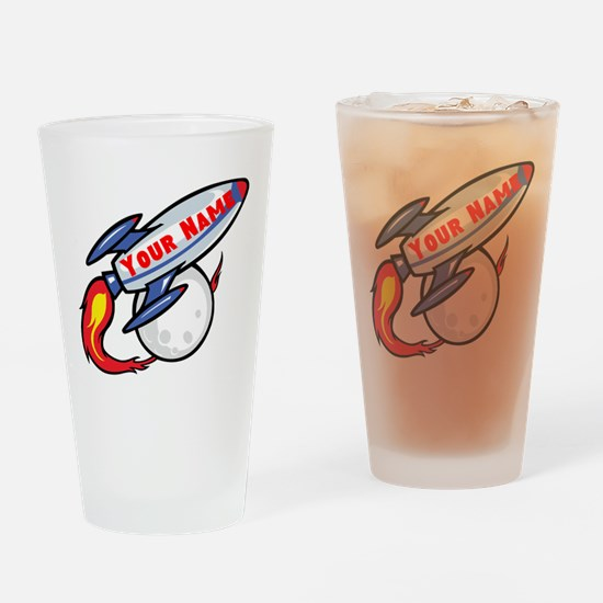 Personalized rocket Drinking Glass
