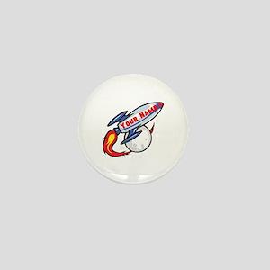 Personalized rocket Mini Button