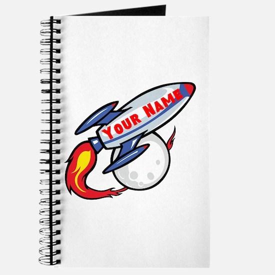 Personalized rocket Journal