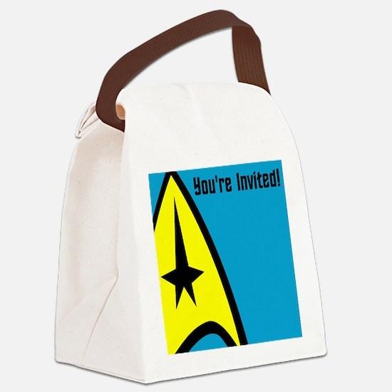 Cute Star trek nerd Canvas Lunch Bag