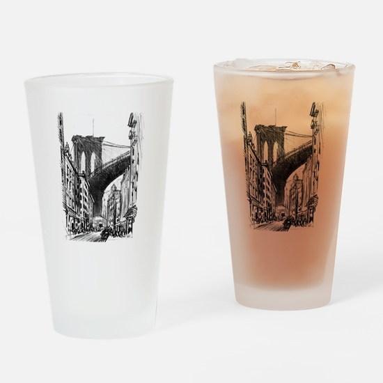 Pennell Joseph Brooklyn Bridge Drinking Glass