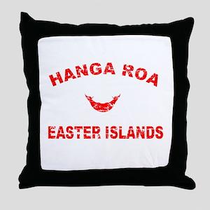 Hanga Roa Easter Islands Designs Throw Pillow