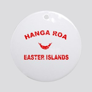 Hanga Roa Easter Islands Designs Ornament (Round)