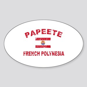 Papeete French Polynesia Designs Sticker (Oval)