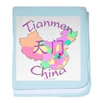 Tianmen China Map baby blanket
