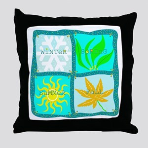 """Four Seasons"" Throw Pillow"