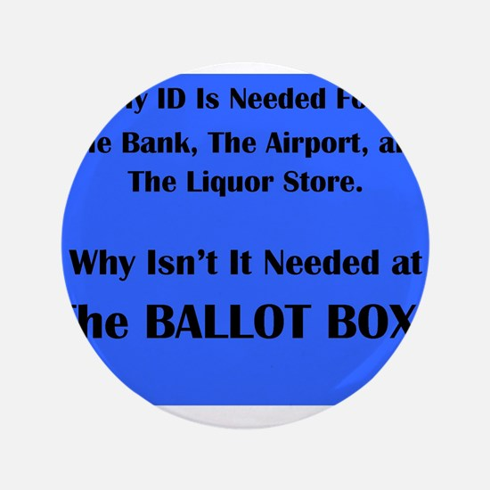 """Voter ID Required 3.5"""" Button"""