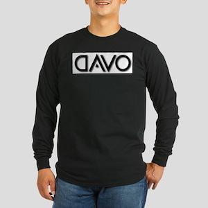 DAVO B on W Logo Long Sleeve Dark T-Shirt