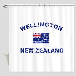 Wellington New Zealand Designs Shower Curtain