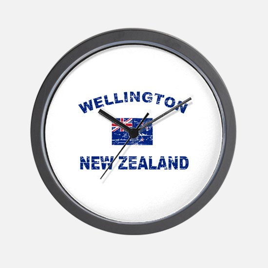 Wellington New Zealand Designs Wall Clock