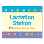 MM Lactation Station Small Poster