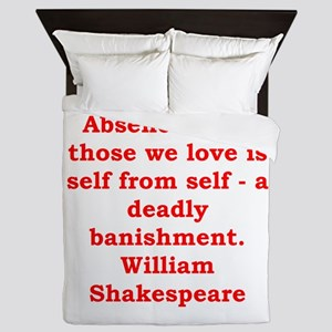 william shakespeare Queen Duvet
