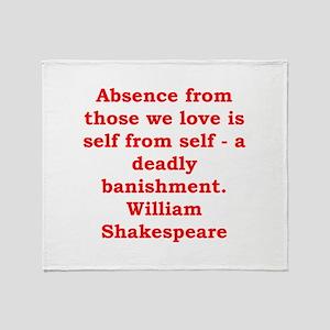william shakespeare Throw Blanket