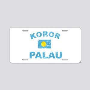 Koror Palau Designs Aluminum License Plate