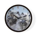 Keeshond Brothers Wall Clock