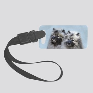 Keeshond Brothers Small Luggage Tag