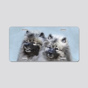 Keeshond Brothers Aluminum License Plate