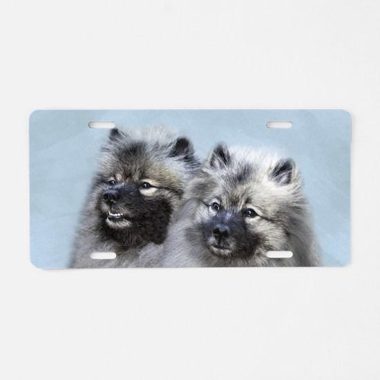 Keeshond Brothers Aluminum License Plate