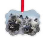 Keeshond Brothers Picture Ornament