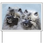 Keeshond Brothers Yard Sign