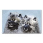 Keeshond Brothers Sticker (Rectangle 10 pk)