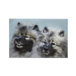 Keeshond Brothers Rectangle Magnet (100 pack)