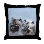 Keeshond Brothers Throw Pillow
