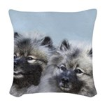 Keeshond Brothers Woven Throw Pillow