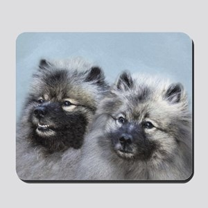 Keeshond Brothers Mousepad
