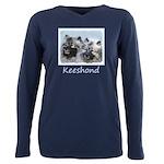 Keeshond Brothers Plus Size Long Sleeve Tee