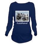 Keeshond Brothers Long Sleeve Maternity T-Shirt