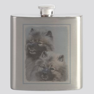Keeshond Brothers Flask