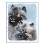 Keeshond Brothers Small Poster
