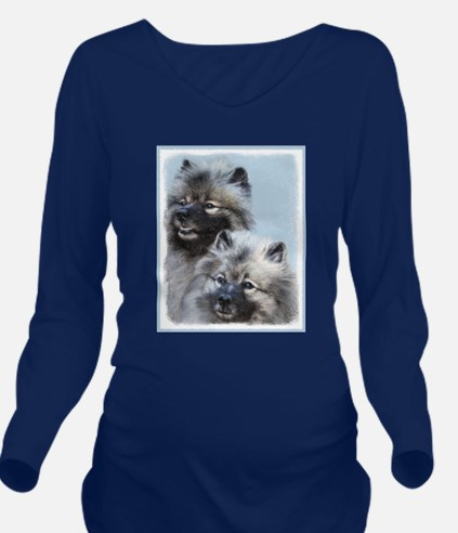 Keeshond Brothers Long Sleeve Maternity T-Shirt