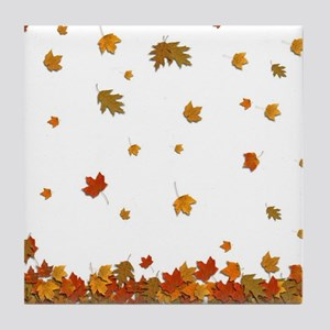 Fall Leaves Tile Coaster